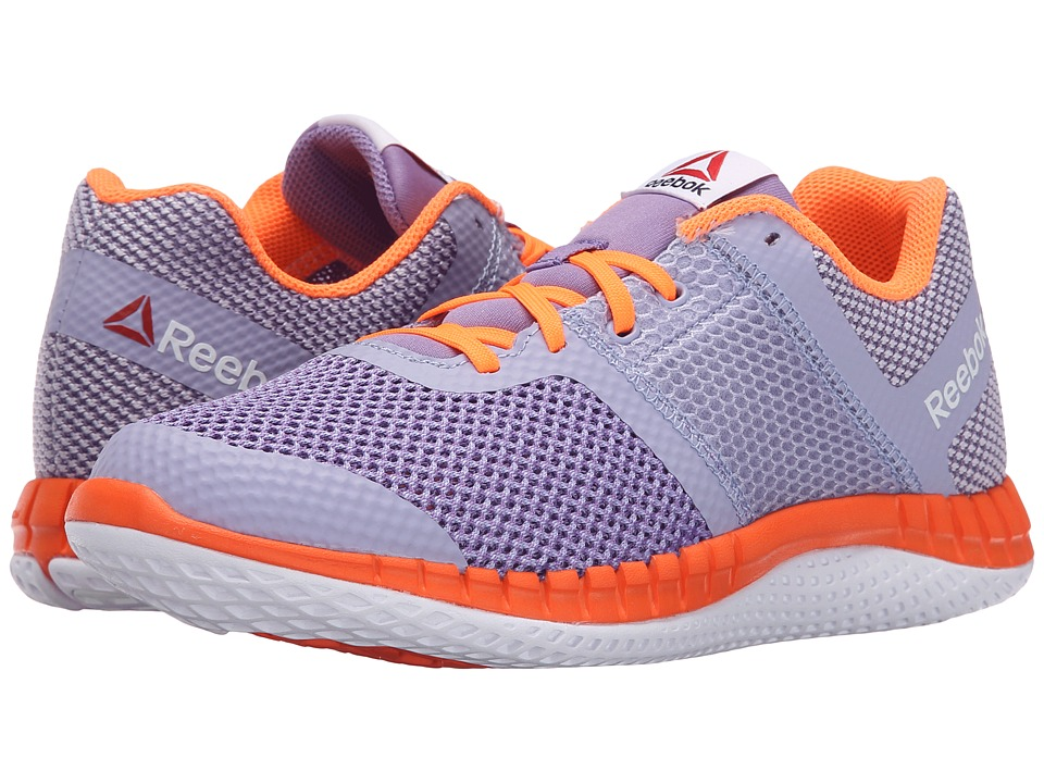 Reebok Kids - Zprint Run (Big Kid) (Moon Violet/Smoky Violet/Electric Peach/White) Girls Shoes