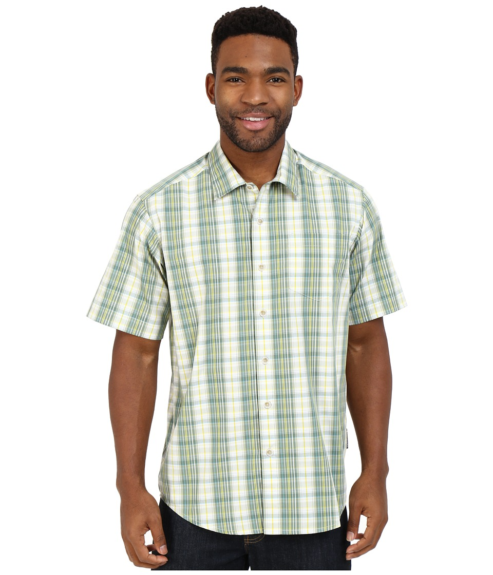 ExOfficio - Mundi Check Short Sleeve Shirt (Hops) Men's Short Sleeve Button Up