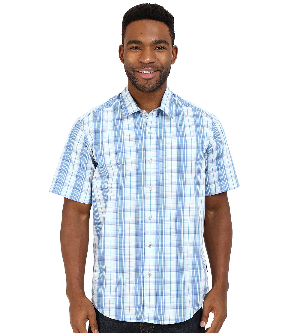 ExOfficio - Mundi Check Short Sleeve Shirt (Tourmaline) Men's Short Sleeve Button Up