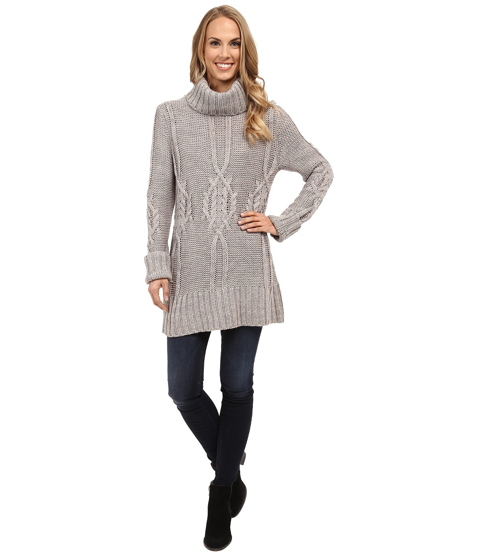 Bobeau - Cable Knit Sweater (Charcoal Grey) Women's Sweater