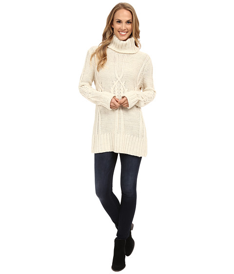 Bobeau - Cable Knit Sweater (Ivory) Women