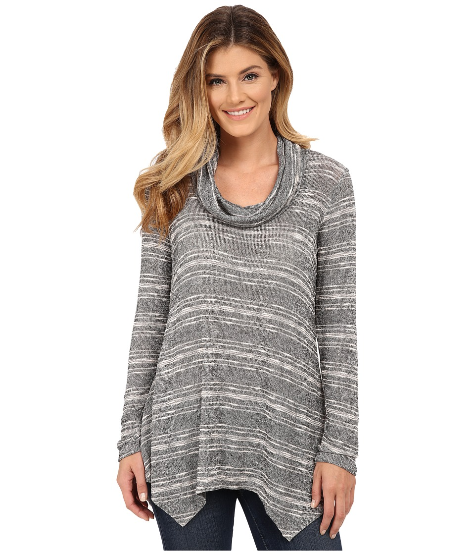 B Collection by Bobeau - Cowl Neck Tunic (Heather Grey) Women's Clothing
