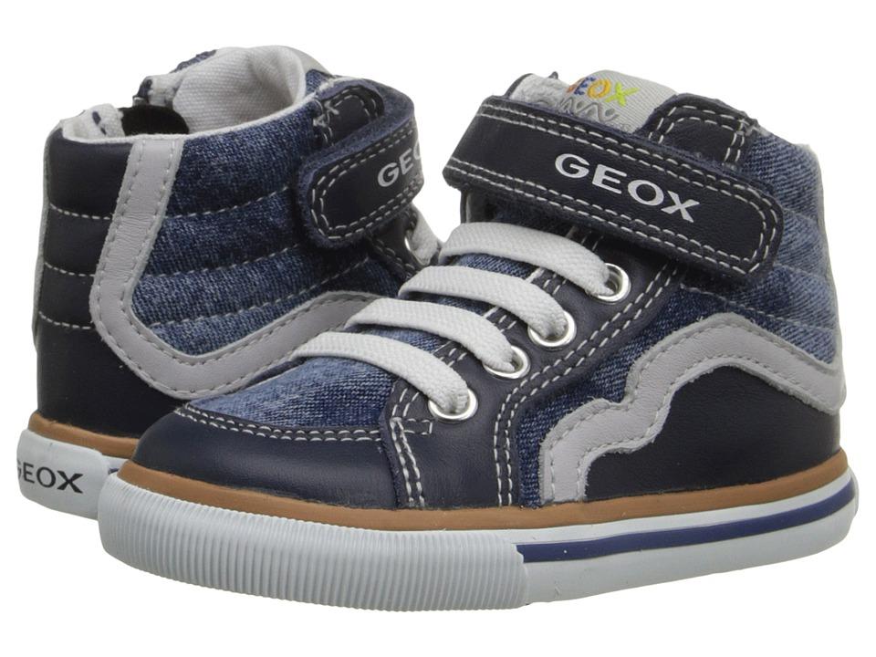 Geox Kids - Baby Kiwi Boy 66 (Toddler) (Jeans/Grey) Boy's Shoes