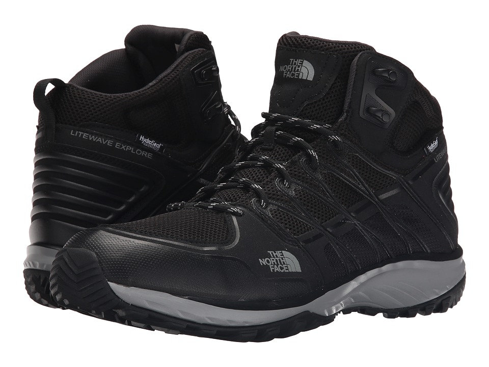 The North Face - Litewave Explore Mid WP (TNF Black/Metallic Silver) Men's Hiking Boots