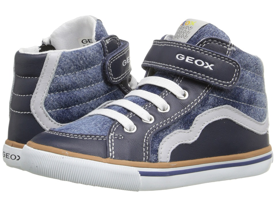 Geox Kids - Baby Kiwi Boy 66 (Toddler 1) (Jeans/Grey) Boy's Shoes