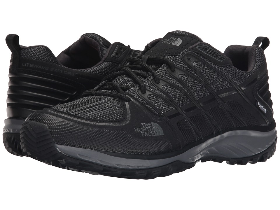 The North Face - Litewave Explore WP (TNF Black/Dark Grey Shadow) Men's Shoes