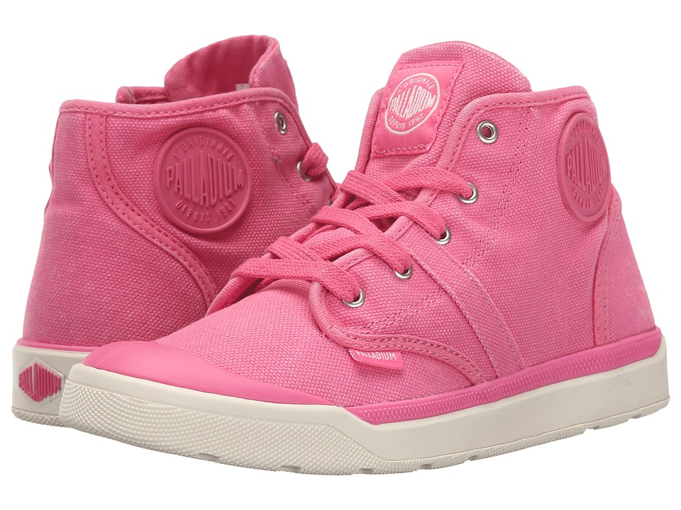 Palladium Kids - Pallarue Hi Zip CVS (Little Kid) (Pink Lemonade/Marshmallow) Girls Shoes
