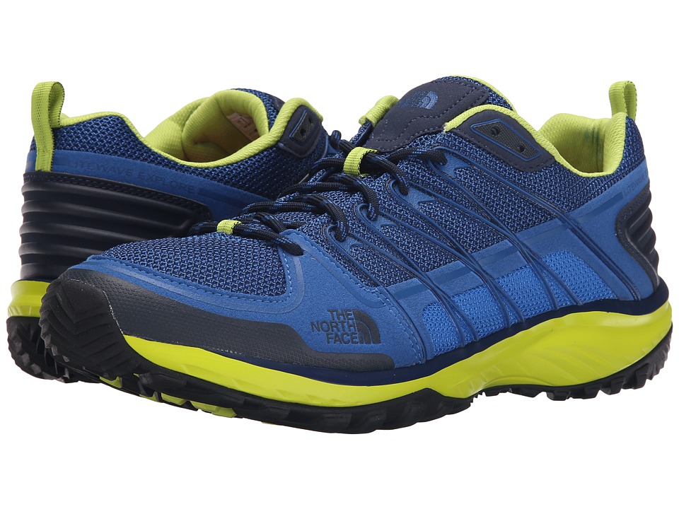 The North Face - Litewave Explore (Blue Quartz/Latern Green) Men's Shoes