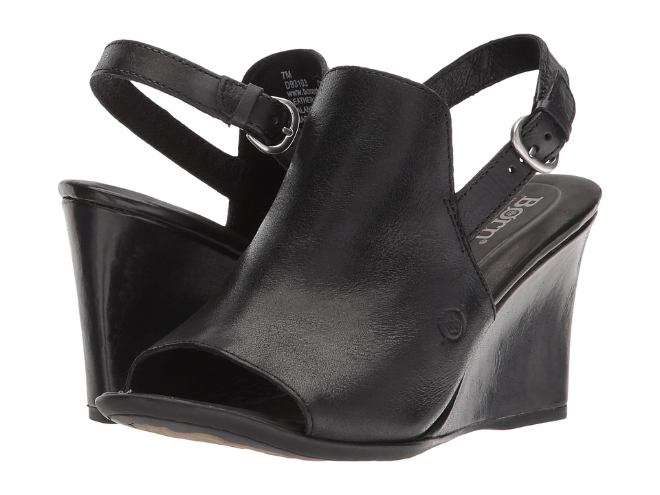 Born Bevi (Black Full Grain Leather) Women