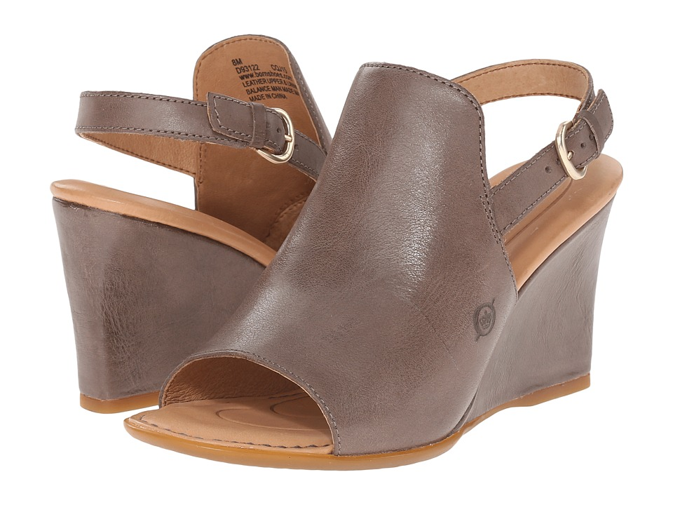 Born Bevi (Grigio Full Grain Leather) Women