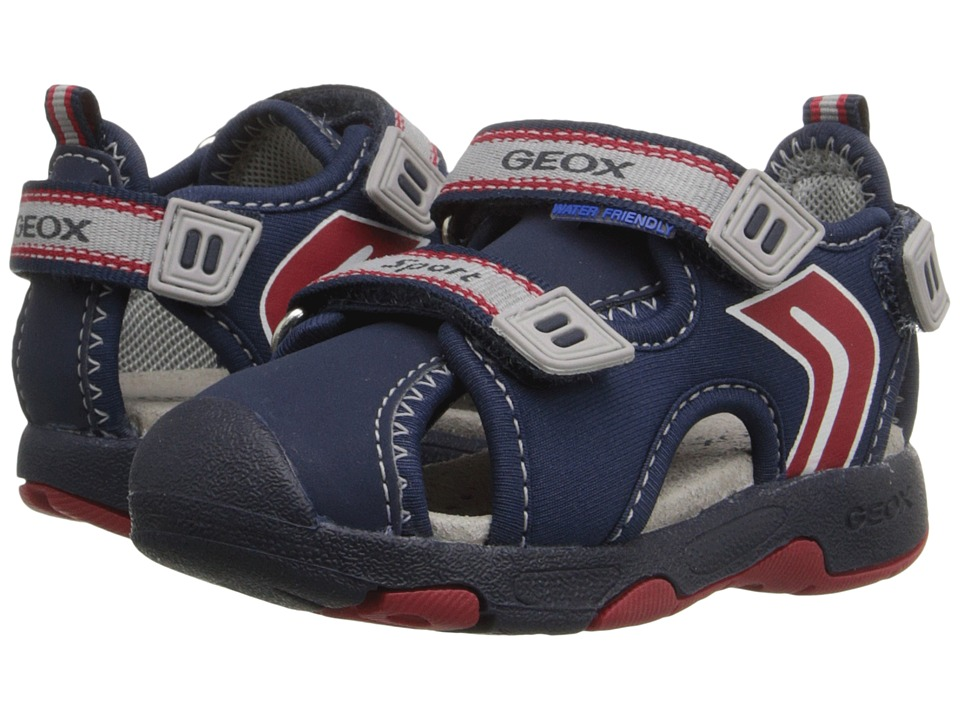 Geox Kids - Baby Sandal Multy Boy 2 (Toddler) (Navy/Red) Boy's Shoes
