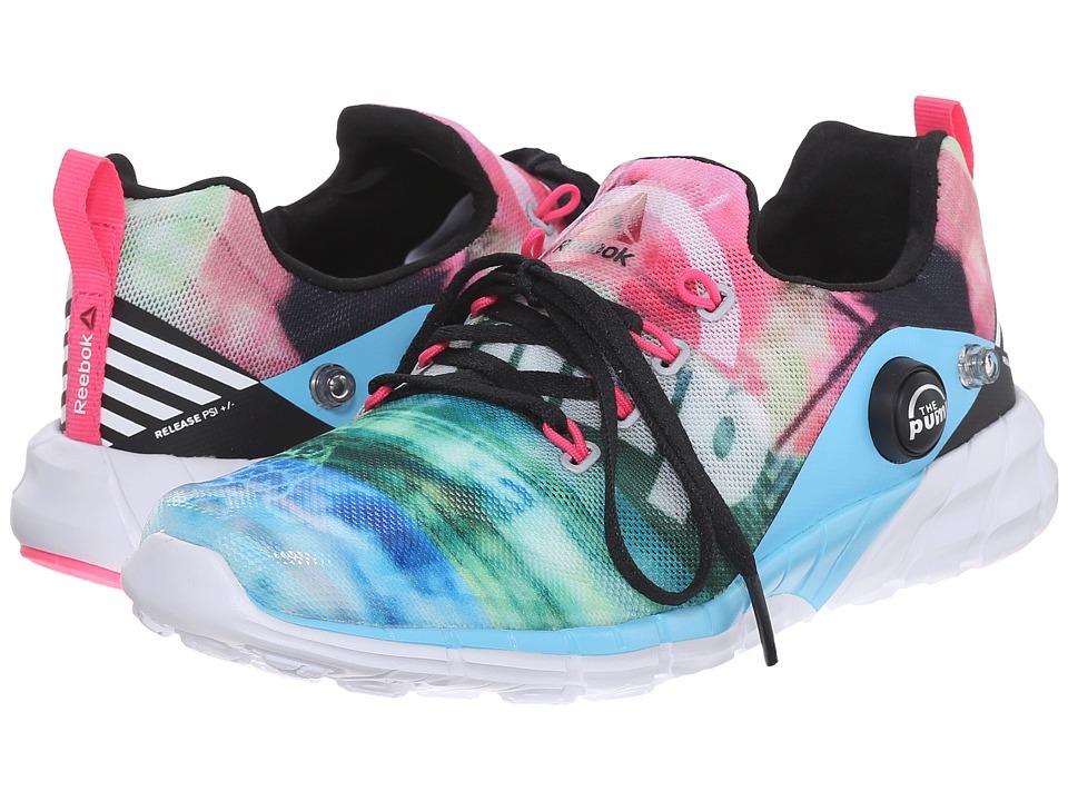 Reebok Kids - ZPump Fusion 2.0 Sun Washed (Little Kid/Big Kid) (Black/Blue Splash/Solar Pink/White) Girls Shoes