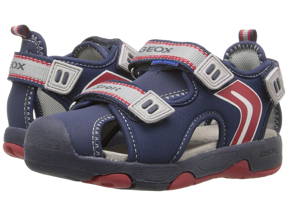 Geox Kids - Baby Sandal Multy Boy 6 (Toddler 1) (Navy/Red) Boy's Shoes
