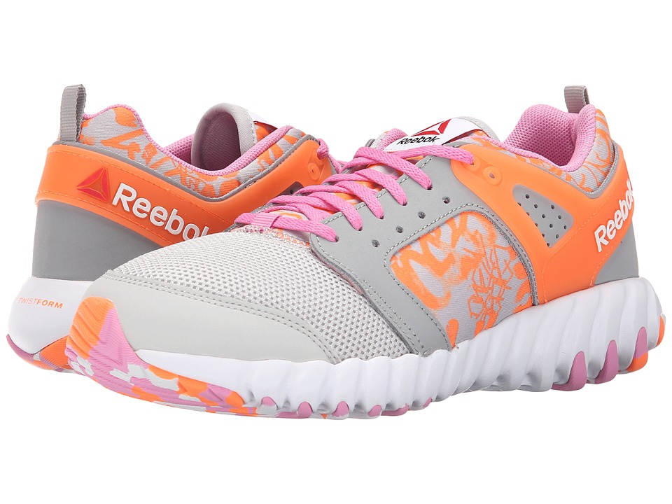 Reebok Kids - Twistform 2.0 (Big Kid) (Steel/Tin Grey/Electric Peach/Icono Pink/White) Girls Shoes