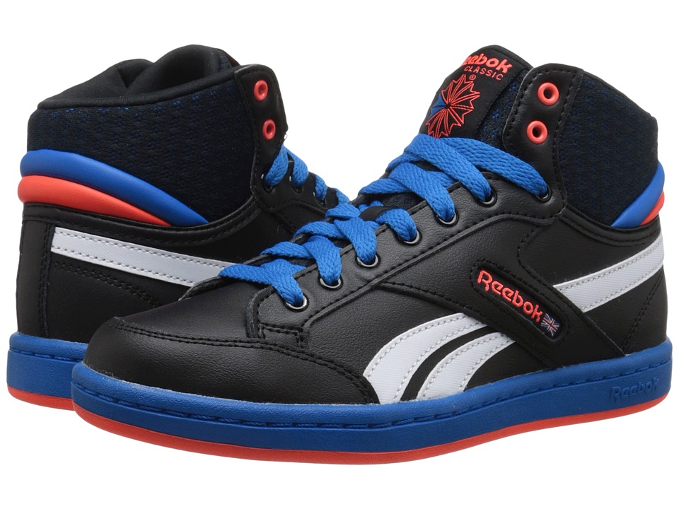 Reebok Kids - Classic Arena Pro Mid (Big Kid) (Black/Blue Sport/Atomic Red/White) Boys Shoes