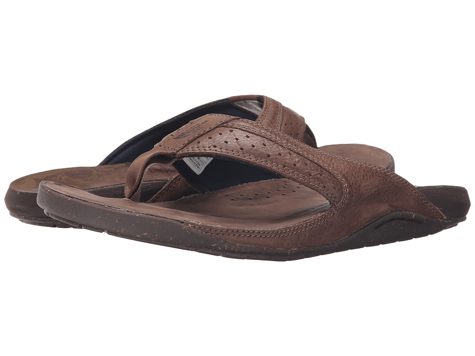 The North Face - Bridgeton Flip Flop (Grey Taupe/Cosmic Blue) Men's Sandals