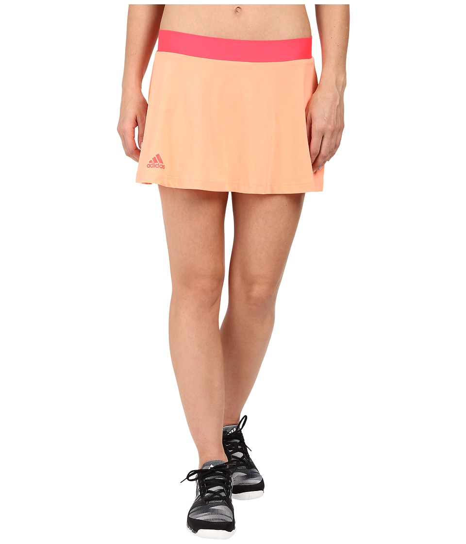 adidas - Club Trend Skort (Sun Glow/Green Glow/Shock Red) Women's Skort