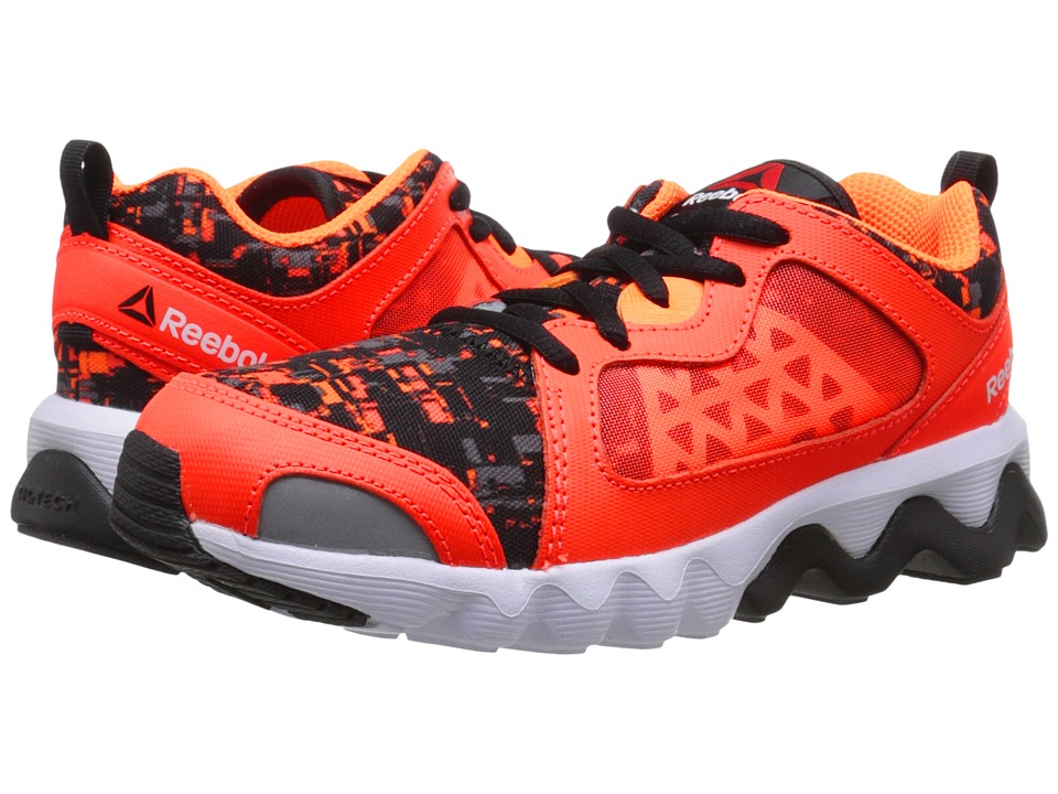 Reebok Kids - Zigrise (Little Kid) (Atomic Red/Black/Electric Peach/White) Boys Shoes