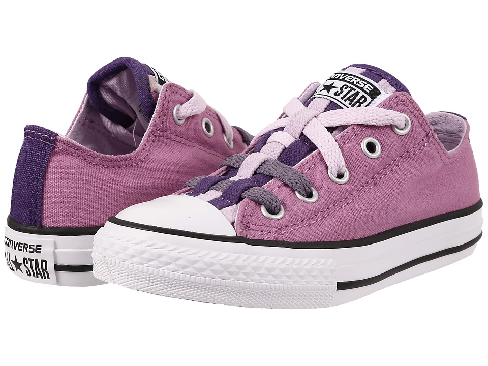 Converse Kids - Chuck Taylor All Star Loopholes Ox (Little Kid/Big Kid) (Powder Purple/Showtime Purple/Purple Dusk) Girls Shoes