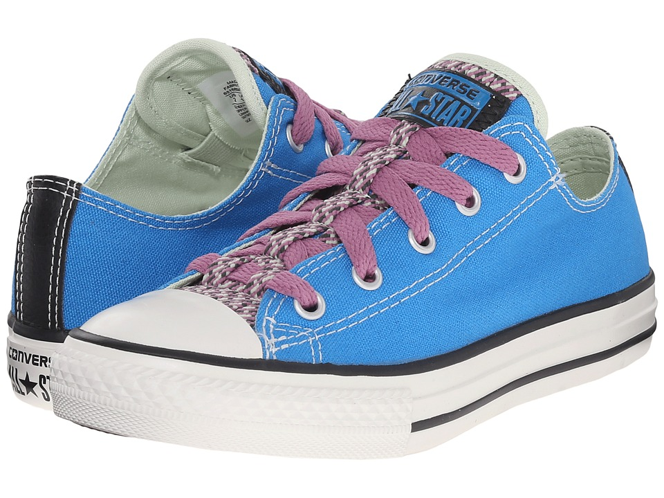 Converse Kids - Chuck Taylor All Star Loopholes Ox (Little Kid/Big Kid) (Spray Paint Blue/Powder Purple/Pistachio Green) Girls Shoes