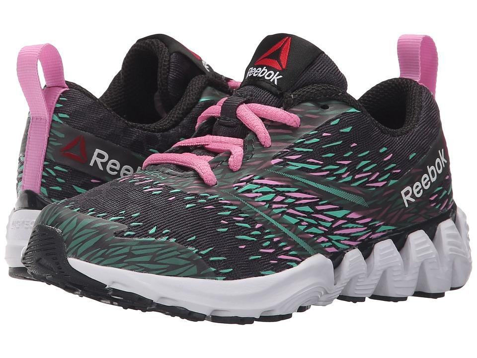 Reebok Kids - Zigkick Sierra (Little Kid) (Coal/Exotic Teal/Icono Pink/White) Girls Shoes