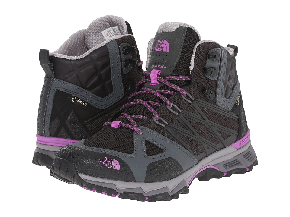 The North Face - Ultra Hike II Mid GTX (TNF Black/Sweet Violet) Women's Hiking Boots