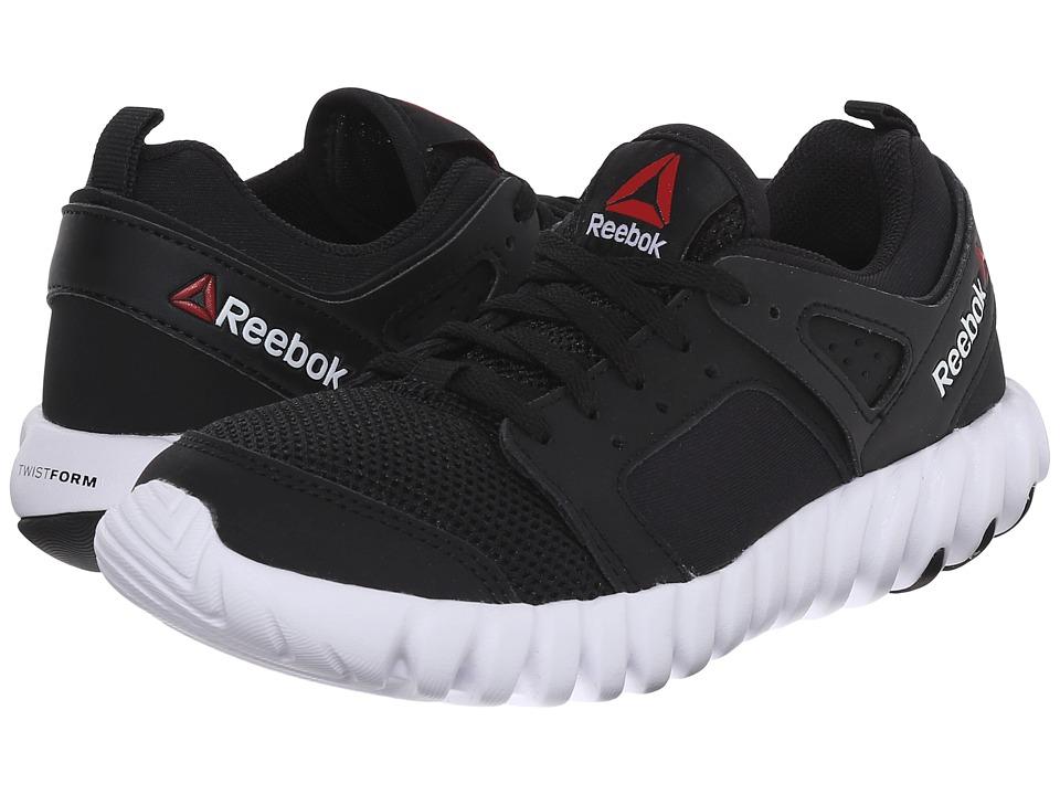 Reebok Kids - Twistform 2.0 (Little Kid) (Black/White) Boys Shoes