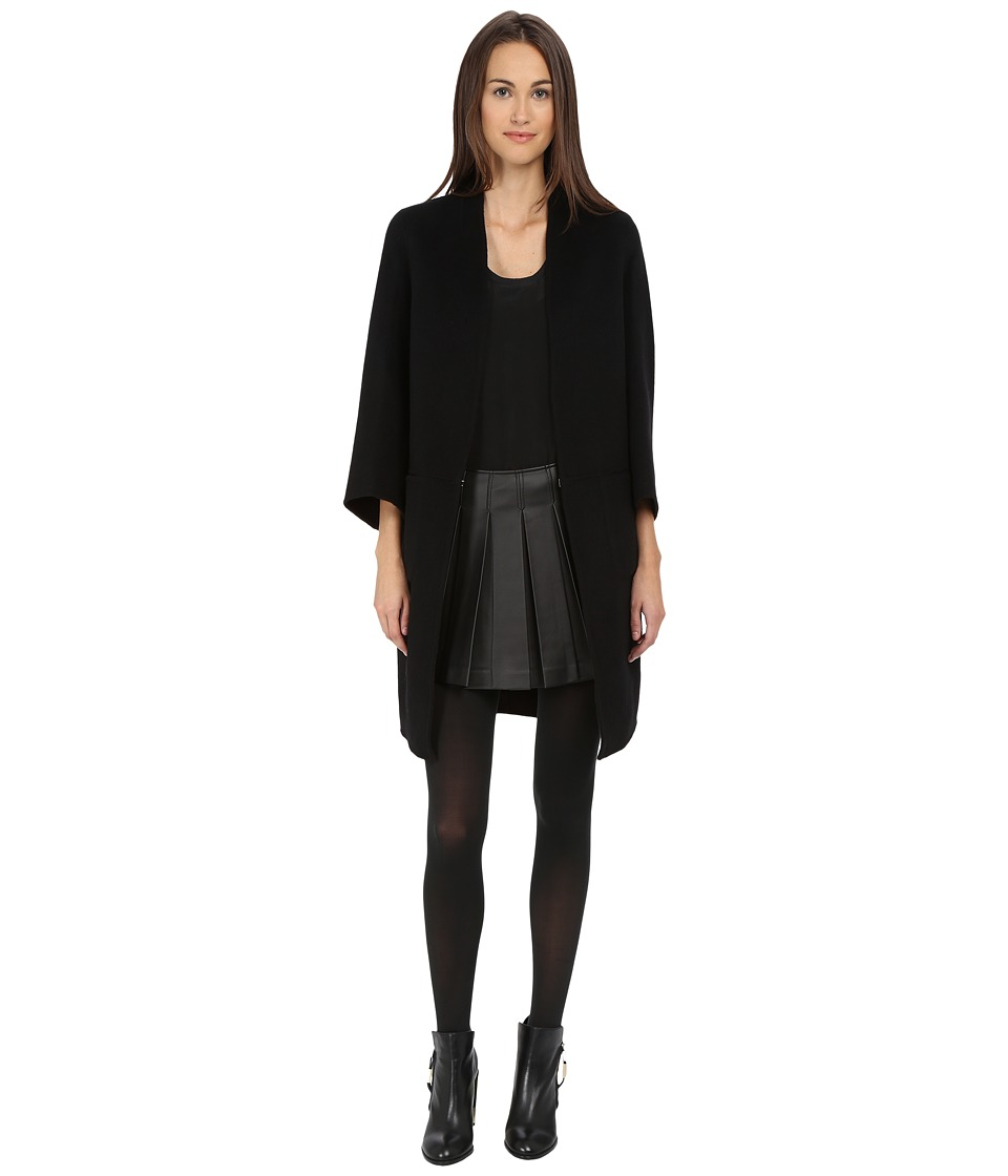 ZAC Zac Posen - Lauren Wool Coat (Onyx/Mineral Rock) Women's Coat