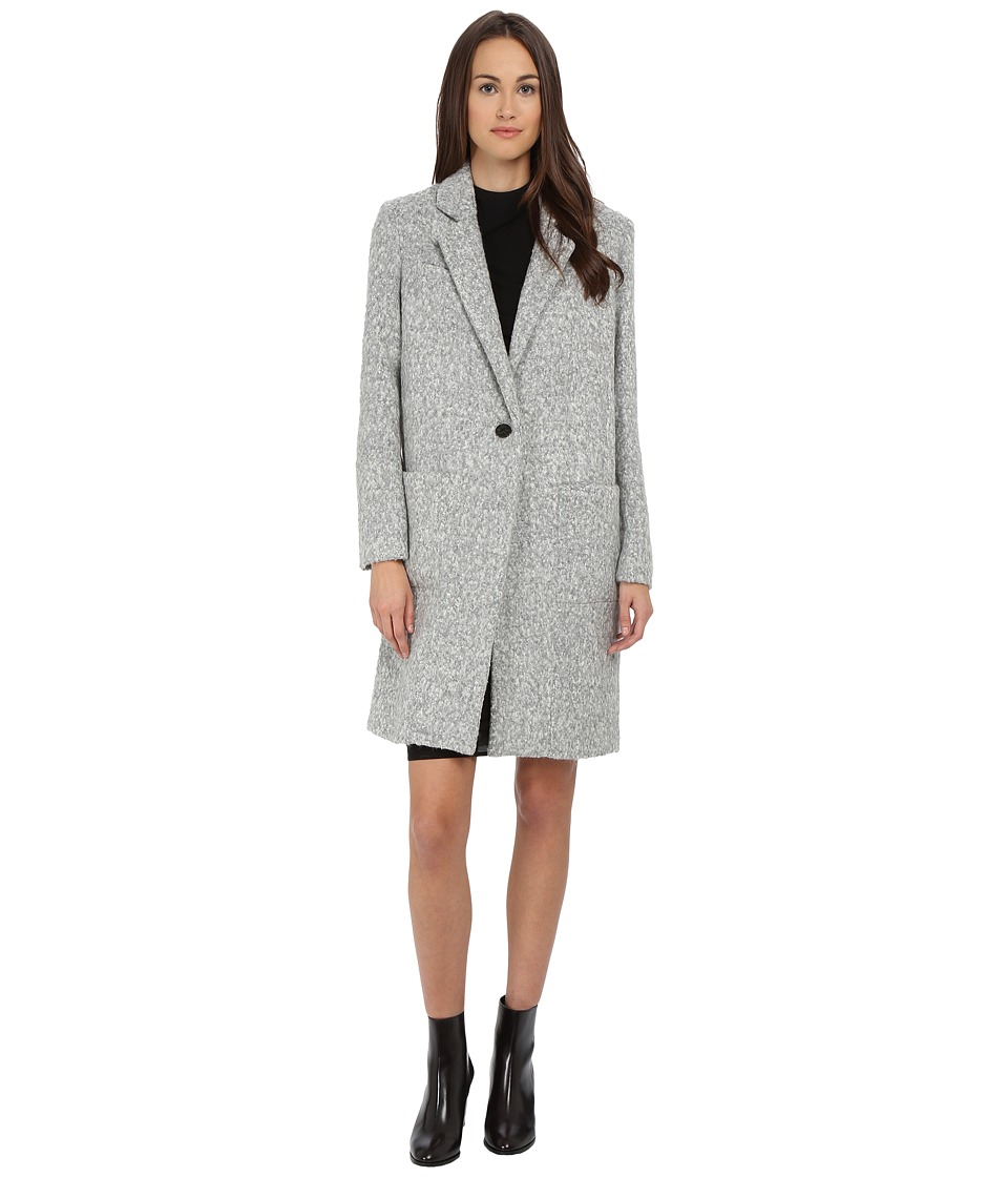 ZAC Zac Posen - Giselle Wool Boyfriend Coat (Lunar Rock Melange) Women's Coat