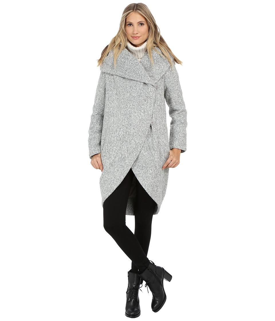 ZAC Zac Posen - Camilla Melange Coat (Lunar Rock Melange) Women's Coat
