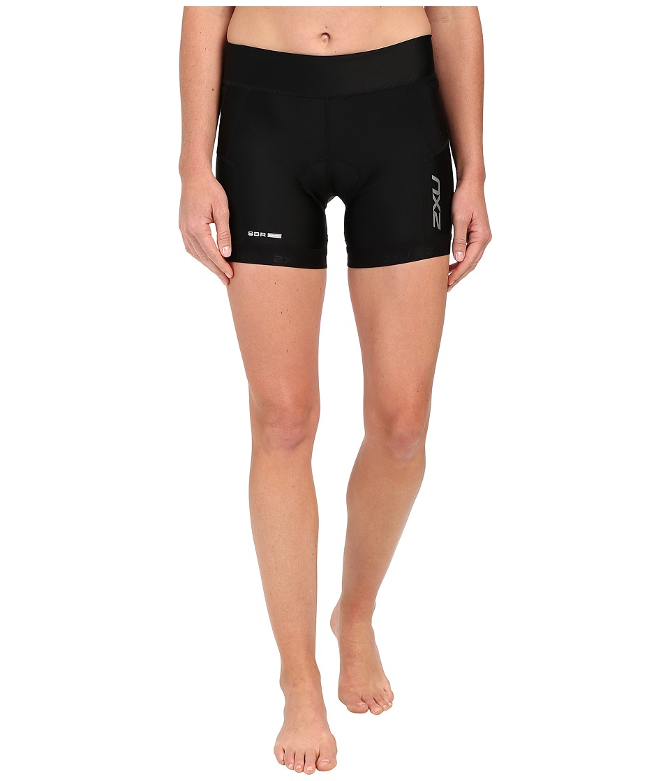2XU - Perform 4.5 Tri Shorts (Black/Black) Women's Shorts