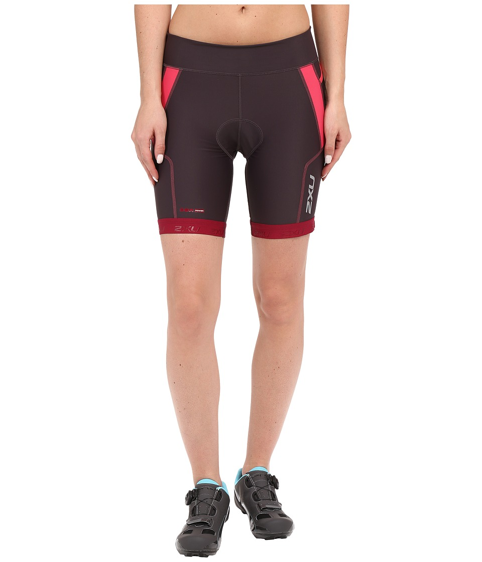 2XU - Perform 7 Tri Shorts (Barberry/Carbon Purple) Women's Shorts
