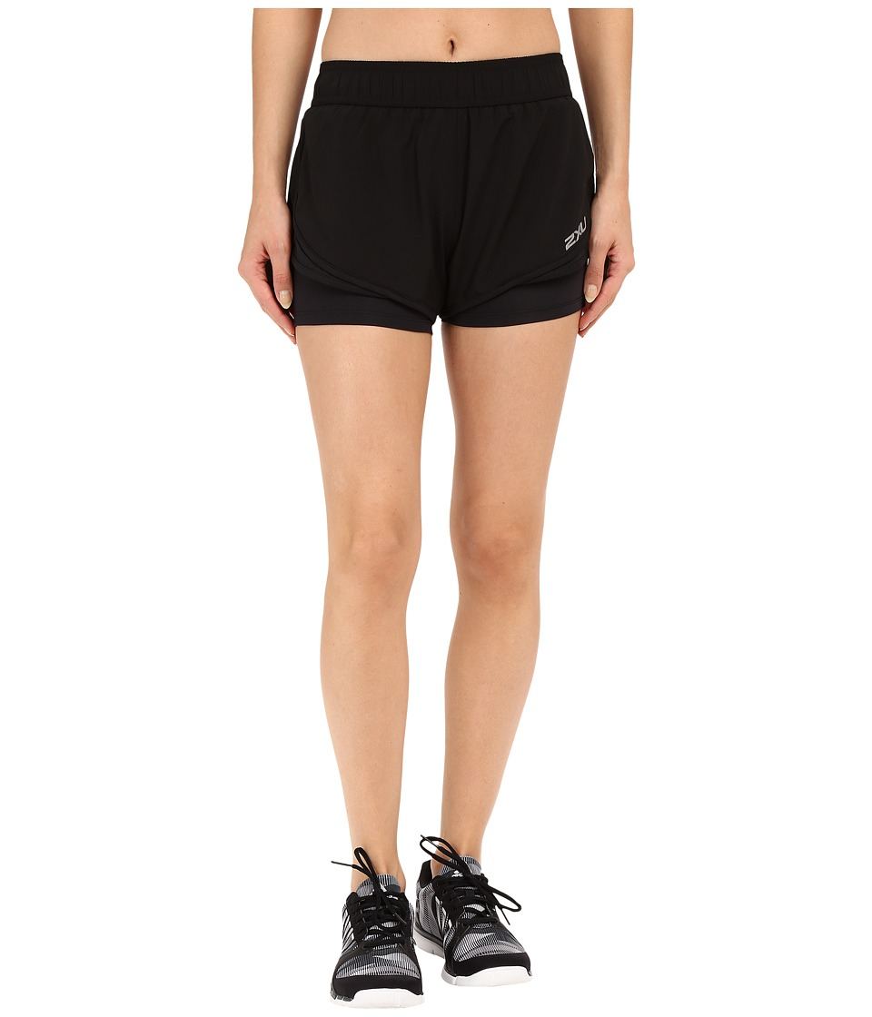 2XU - Pace 2-in-1 Shorts (Black/Black) Women's Shorts