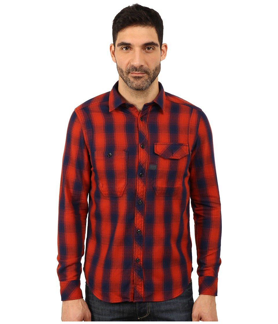 G-Star - Wolker Overshirt (Auburn) Men's Clothing