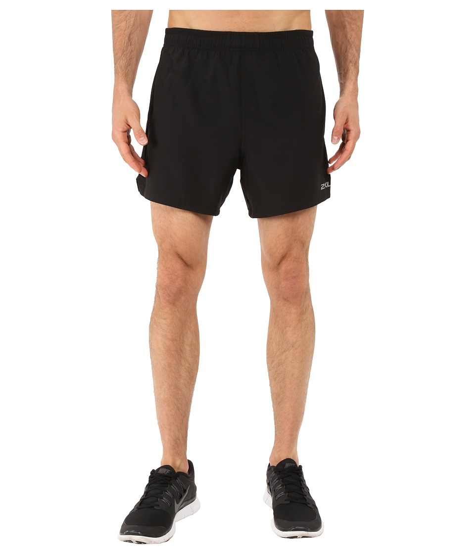 2XU - Pace 2-in-1 Shorts (Black/Black) Men's Shorts