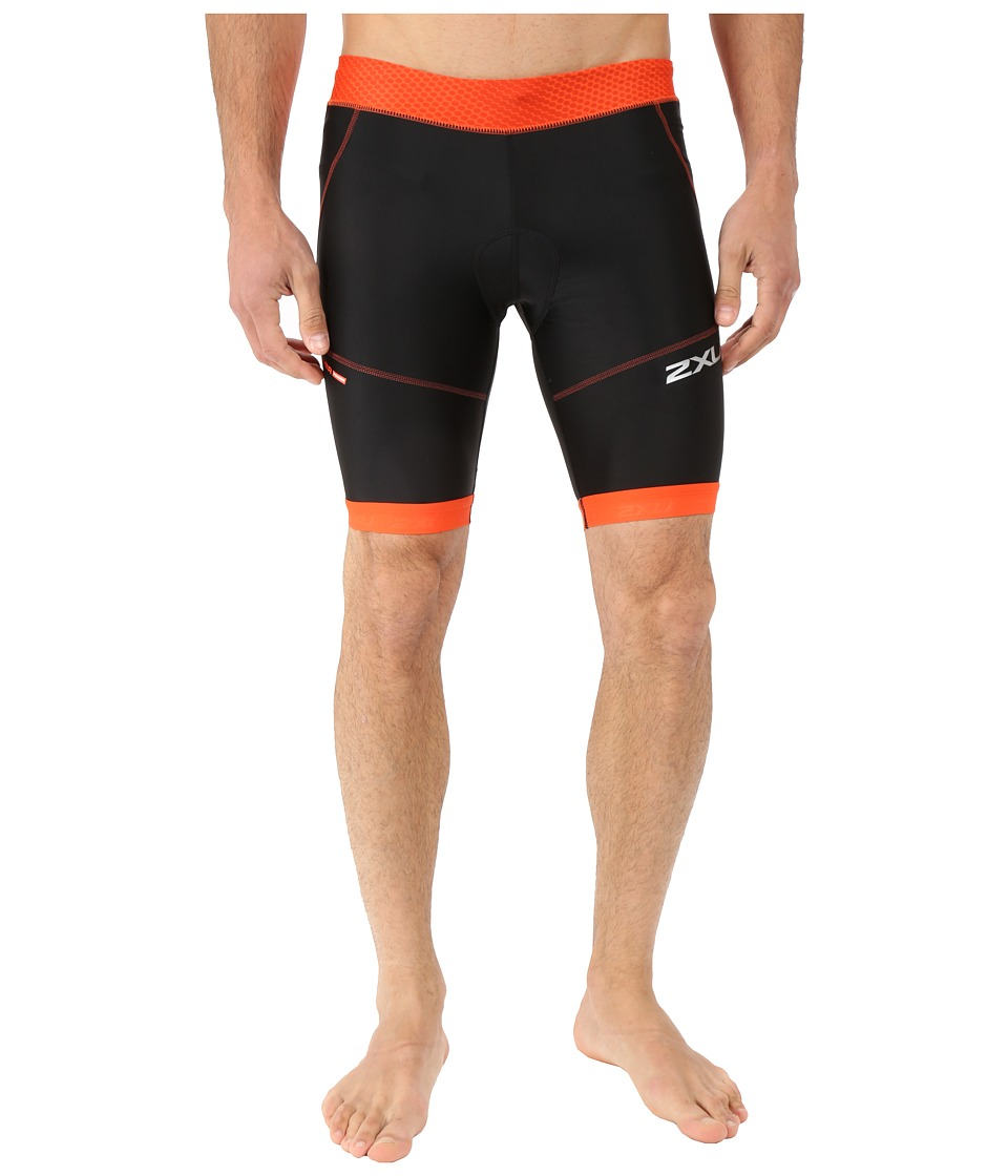 2XU - Perform 9 Tri Shorts (Desert Red Print/Black) Men's Shorts