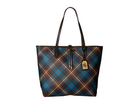 LAUREN by Ralph Lauren - Crawley Plaid Unlined Tote (Blue/Navy Multi) Tote Handbags