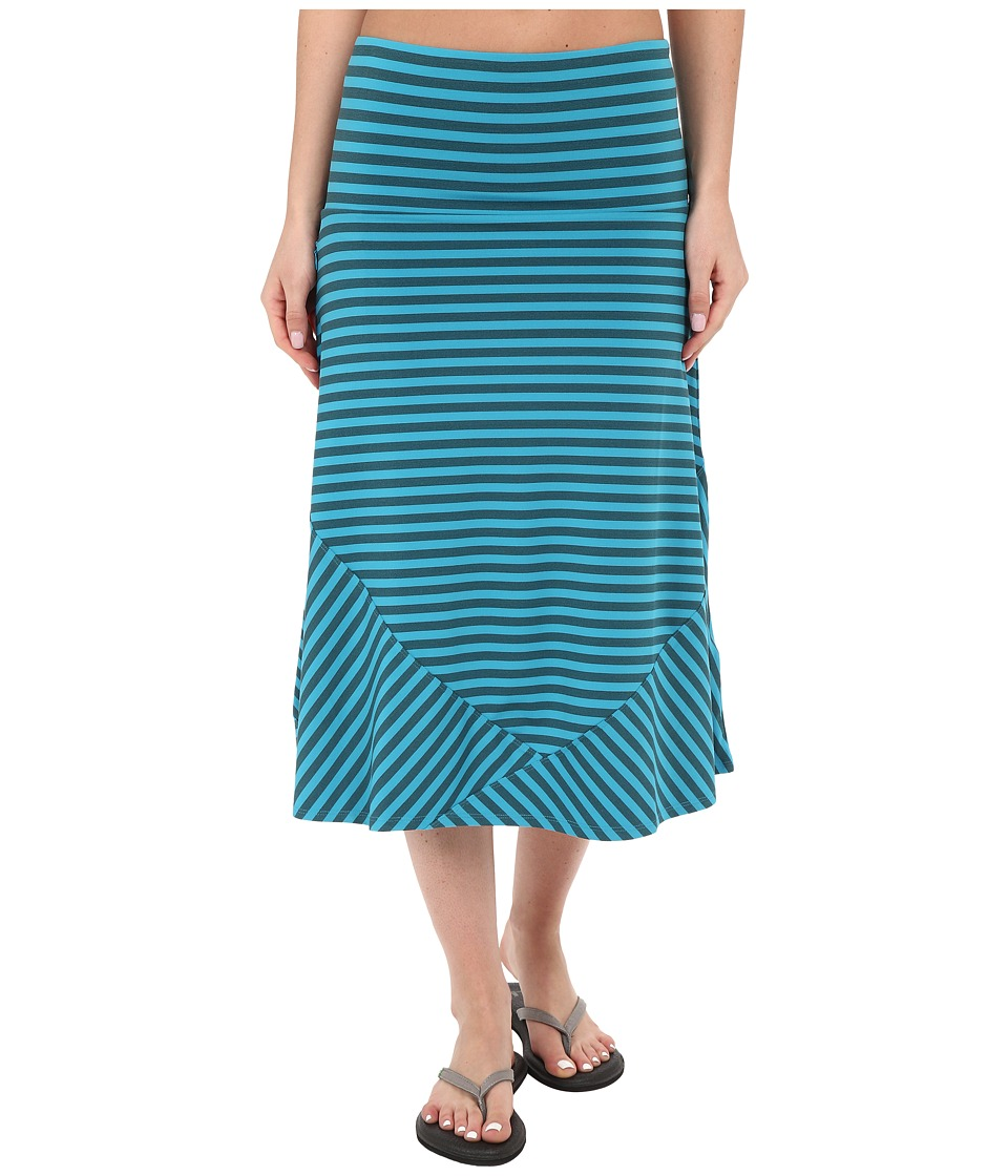 ExOfficio Wanderluxtm Stripe Convertible Skirt (Deep Sea) Women