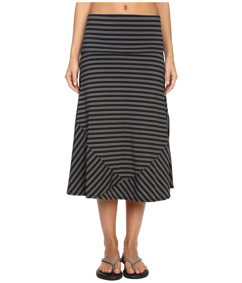 ExOfficio - Wanderlux Stripe Convertible Skirt (Black) Women's Skirt