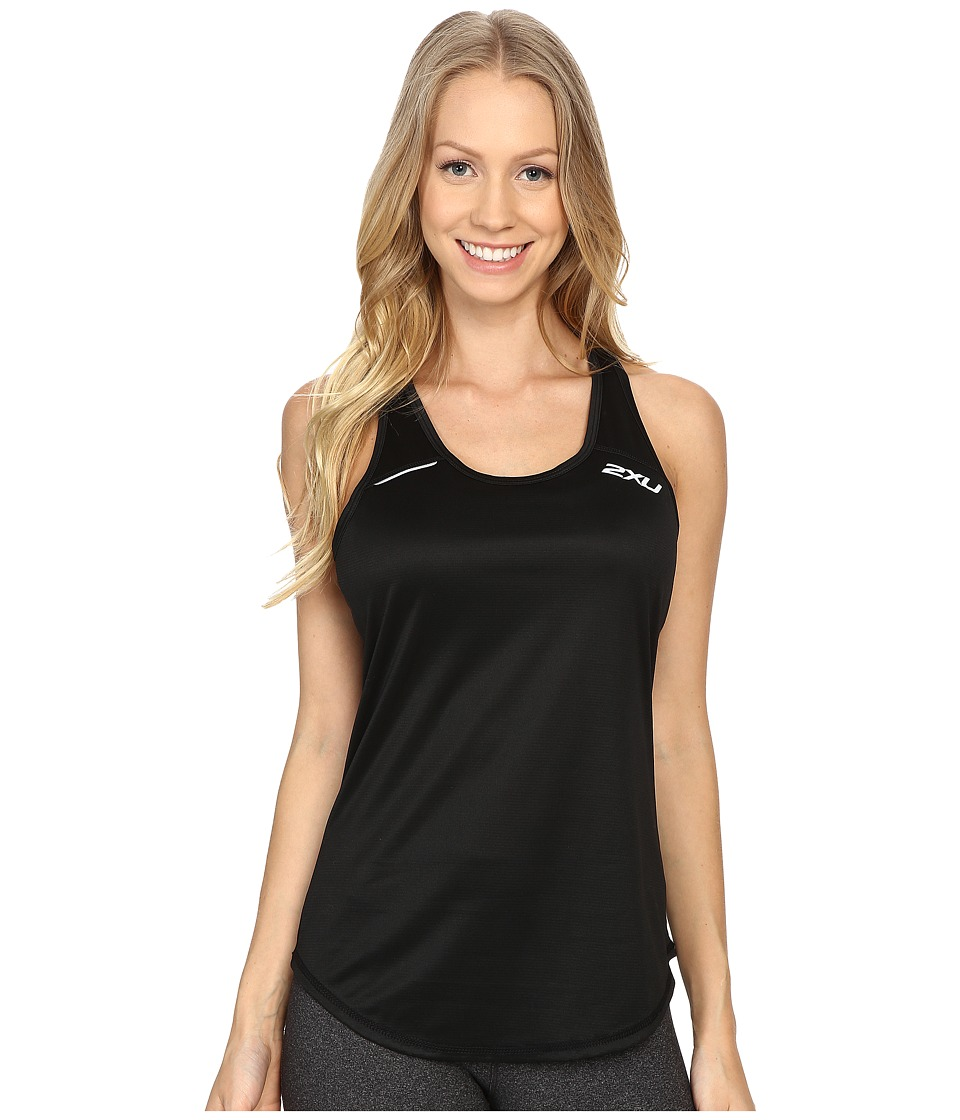 2XU - Ice X Singlet (Black/Black) Women's Clothing