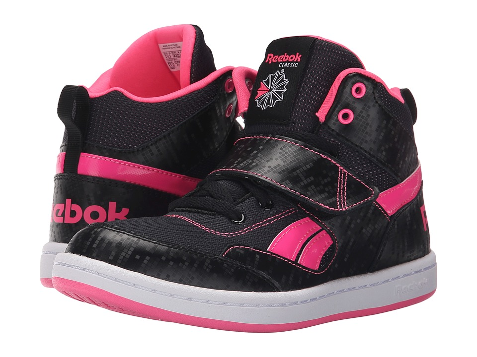Reebok Kids - Mission (Little Kid/Big Kid) (Black/Solar Pink/White) Girls Shoes