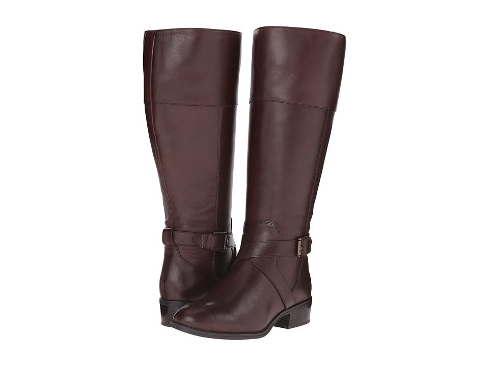 LAUREN Ralph Lauren - Maryann Wide Calf (Dark Brown Burnished Calf) Women's Boots