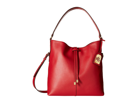 LAUREN by Ralph Lauren - Crawley Hobo (Red/Red) Hobo Handbags