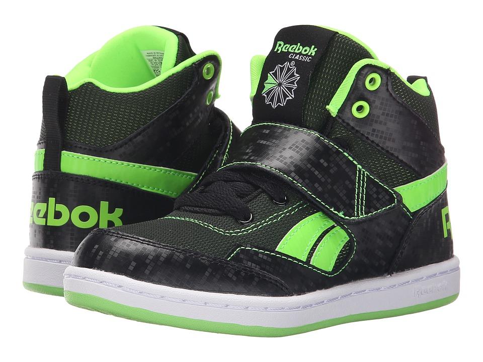 Reebok Kids - Mission (Little Kid/Big Kid) (Black/Solar Green/White) Boys Shoes