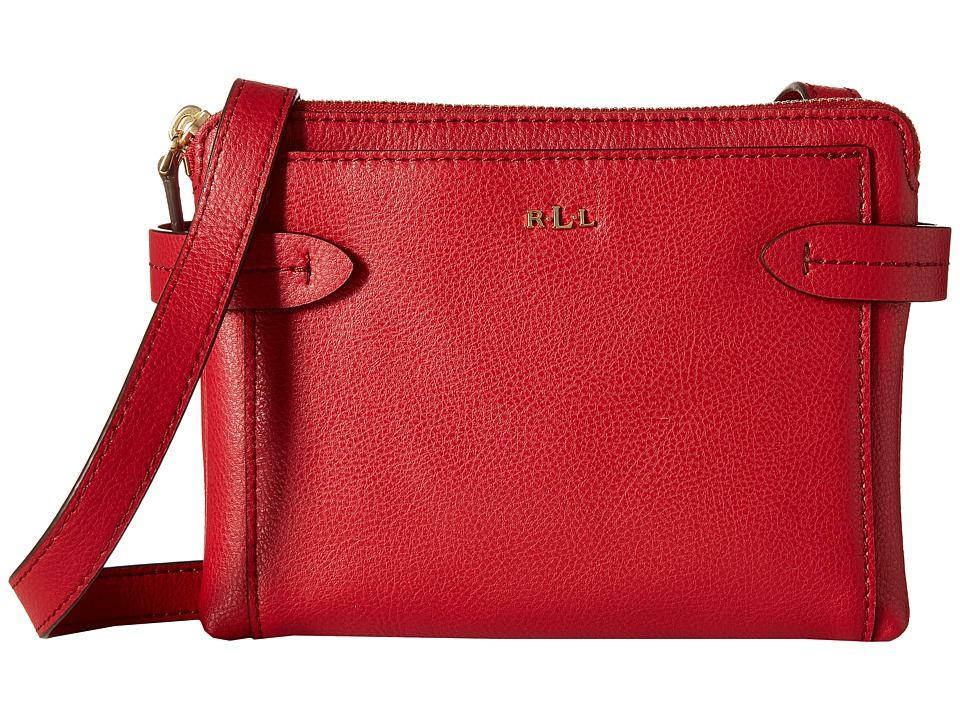 LAUREN by Ralph Lauren - Crawley Double Zip Crossbody (Red/Red) Cross Body Handbags
