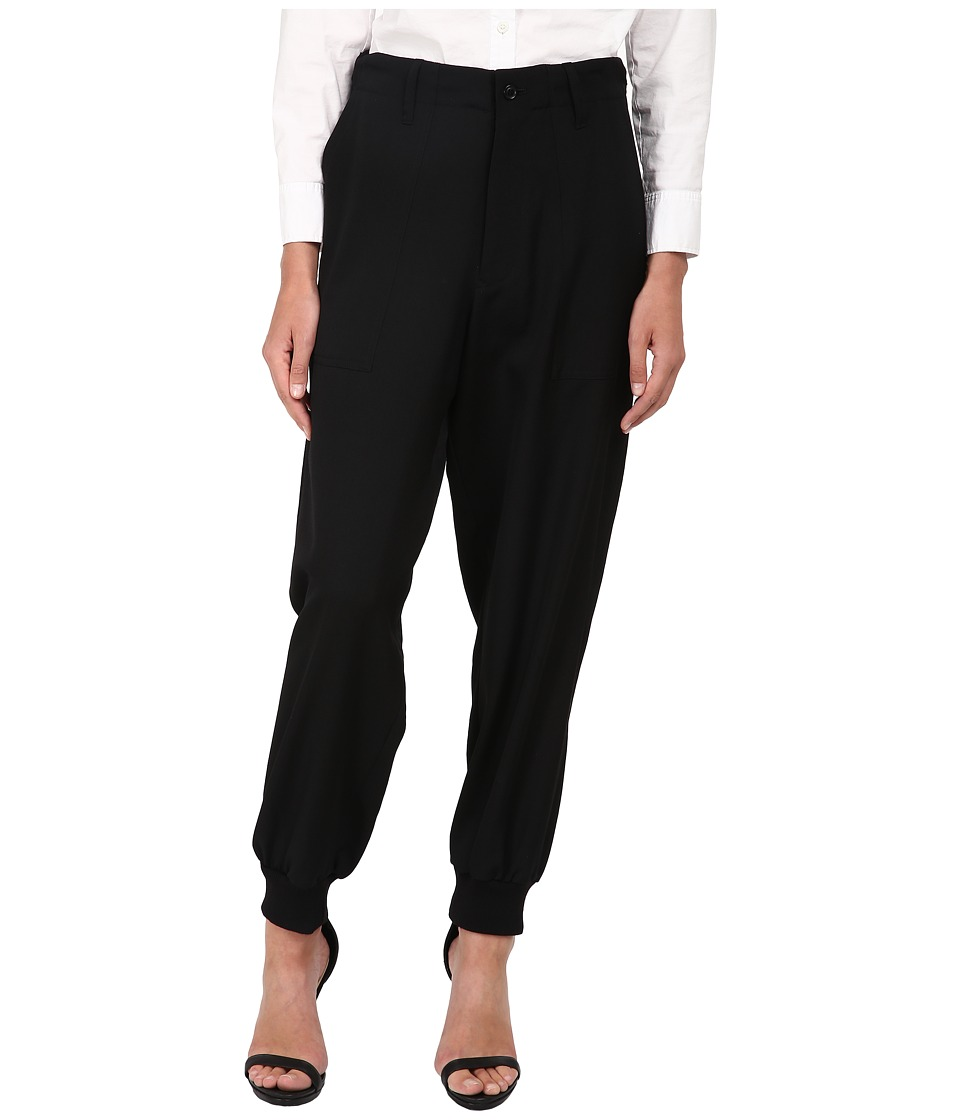 Y's by Yohji Yamamoto - YY-P01-100 (Black) Women's Casual Pants