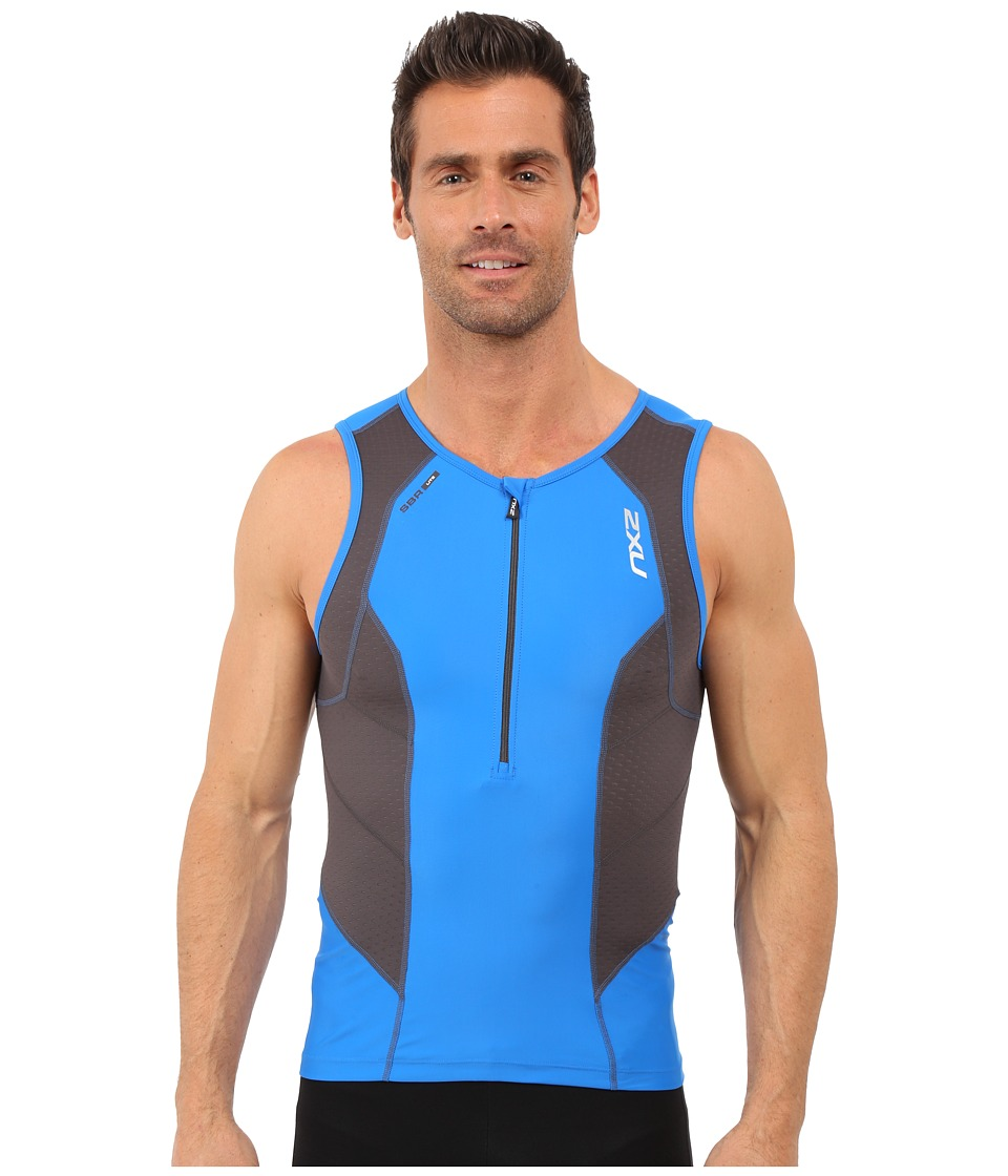2XU - Perform Tri Singlet (Cobalt Blue/Ink) Men's Clothing