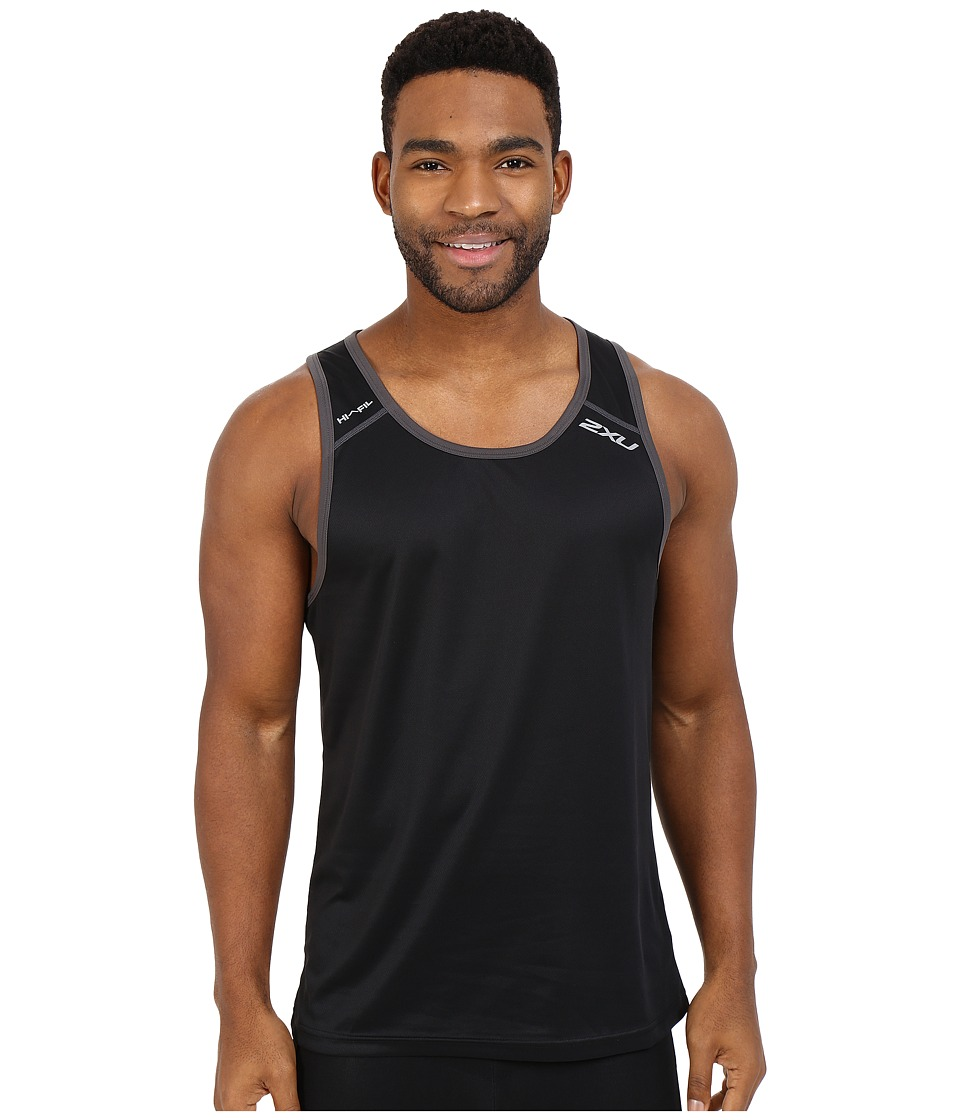2XU - Tech Vent Two-Tone Singlet (Black/Ink) Men's Clothing