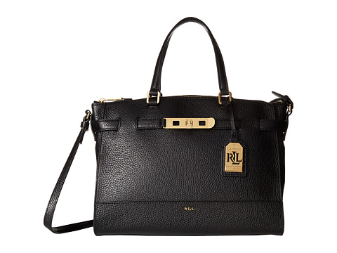 LAUREN by Ralph Lauren - Darwin Satchel (Black) Satchel Handbags