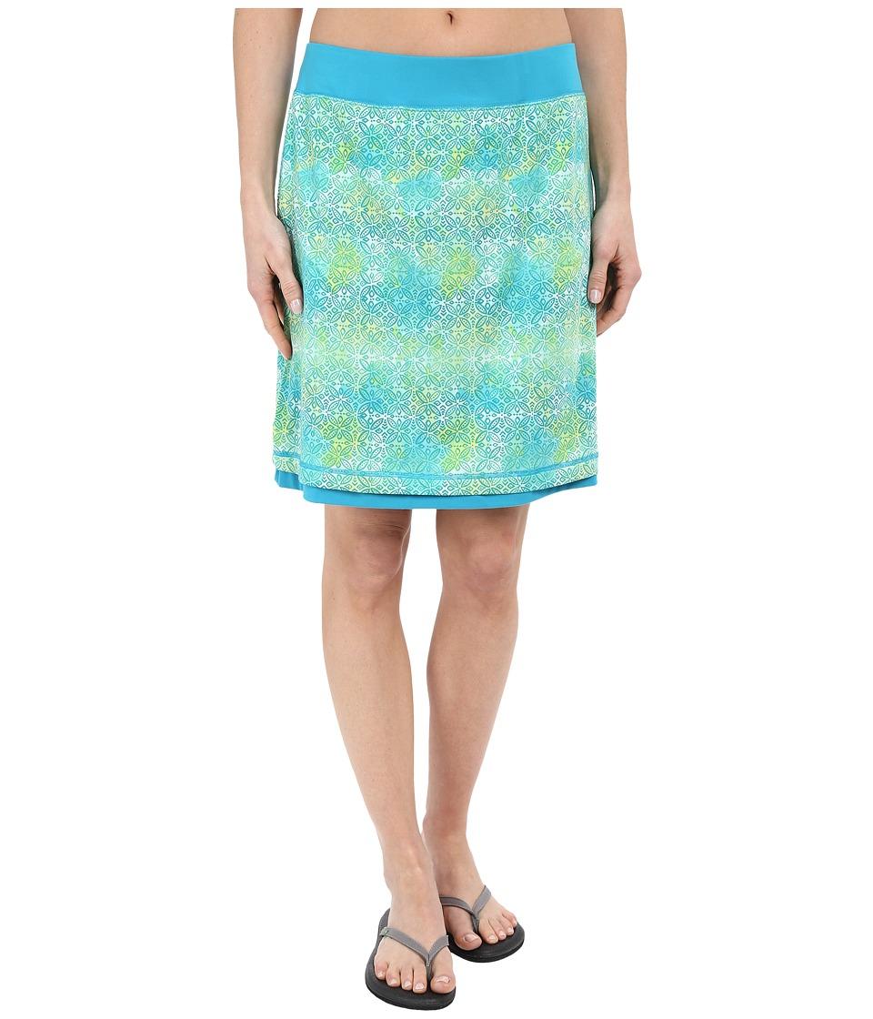 ExOfficio Wanderluxtm Reversible Print Skirt (Deep Sea Print) Women